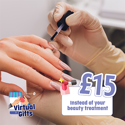 £15 – Instead of your beauty treatment